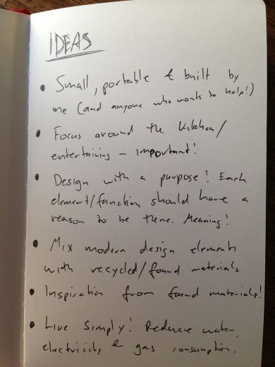 Sketch Book ideas for a tiny house